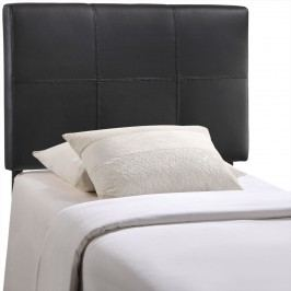 Oliver Twin Vinyl Headboard in Black