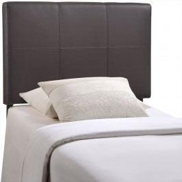 Oliver Twin Vinyl Headboard in Brown
