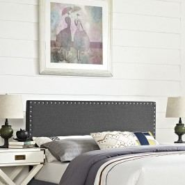 Phoebe Full Fabric Headboard in Gray