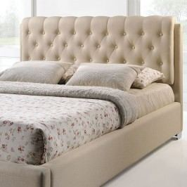 Amelia Queen Fabric Bed in Beige