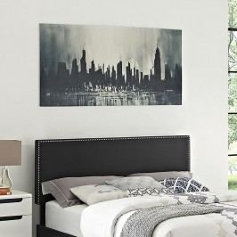Phoebe Full Vinyl Headboard in Black