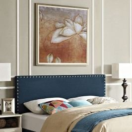 Phoebe King Fabric Headboard in Azure