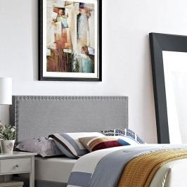 Phoebe King Fabric Headboard in Light Gray