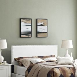 Phoebe King Vinyl Headboard in White