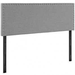 Phoebe Queen Fabric Headboard in Light Gray