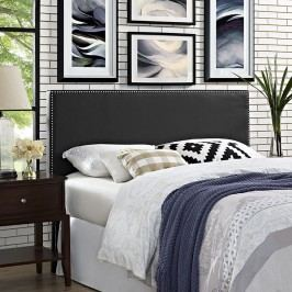 Phoebe Queen Vinyl Headboard in Black