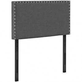 Phoebe Twin Fabric Headboard in Gray