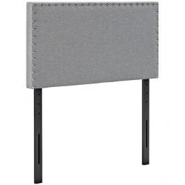 Phoebe Twin Fabric Headboard in Light Gray