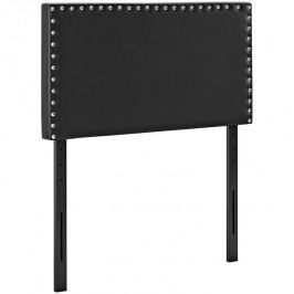 Phoebe Twin Vinyl Headboard in Black