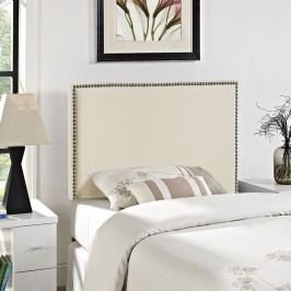 Region Twin Nailhead Upholstered Headboard in Ivory