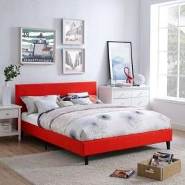 Anya Full Fabric Bed in Atomic Red