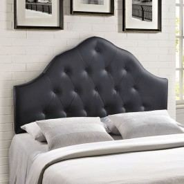 Sovereign Queen Vinyl Headboard in Black