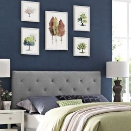 Terisa Full Fabric Headboard in Light Gray