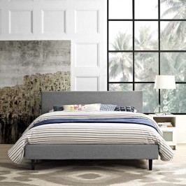 Anya Full Fabric Bed in Light Gray