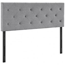 Terisa Queen Fabric Headboard in Light Gray