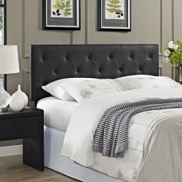 Terisa Queen Vinyl Headboard in Black