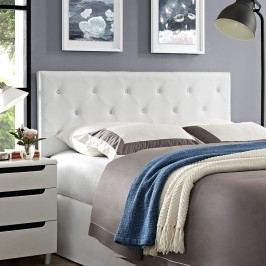 Terisa Queen Vinyl Headboard in White