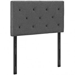 Terisa Twin Fabric Headboard in Gray