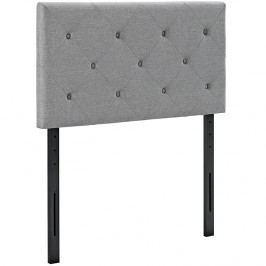 Terisa Twin Fabric Headboard in Light Gray