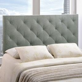 Theodore King Fabric Headboard in Gray