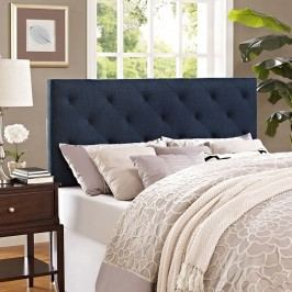 Theodore Queen Fabric Headboard in Navy
