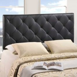 Theodore Queen Vinyl Headboard in Black