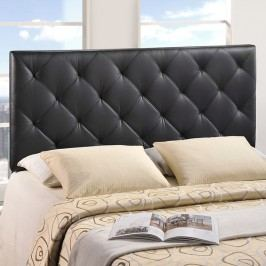 Theodore Twin Vinyl Headboard in Black