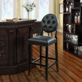 Button Bar Stool in Black