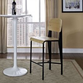 Cabin Counter Stool in Natural Black