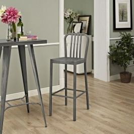 Clink Metal Bar Stool in Silver