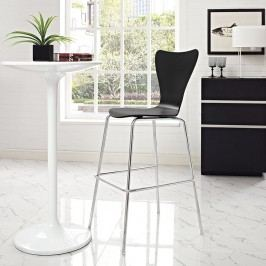 Ernie Wood Bar Stool in Black