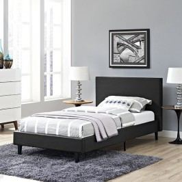 Anya Twin Vinyl Bed in Black