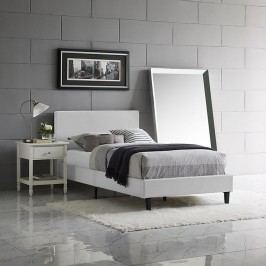 Anya Twin Vinyl Bed in White