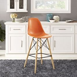 Pyramid Bar Stool in Orange