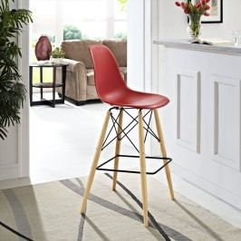 Pyramid Bar Stool in Red
