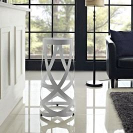 Ribbon Bar Stool in White