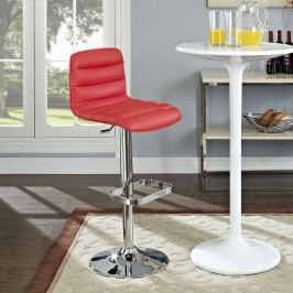 Ripple Bar Stool in Red