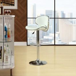 Saddleback Bar Stool in White