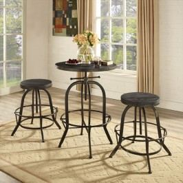 Sylvan Wood Top Bar Table in Black