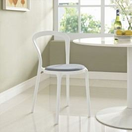 Assist Dining Side Chair in White Gray