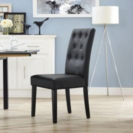 Confer Dining Vinyl Side Chair in Black