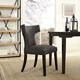 Curve Fabric Dining Chair in Brown
