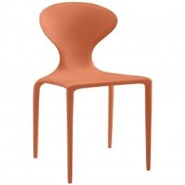Draw Dining Side Chair in Orange