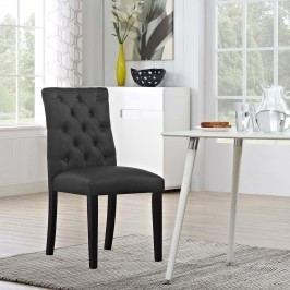 Duchess Vinyl Dining Chair in Black
