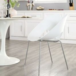 Envelope Dining Side Chair in White