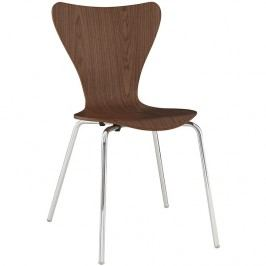 Ernie Dining Side Chair in Walnut