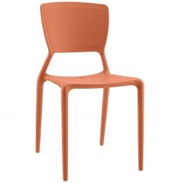 Fine Dining Side Chair in Orange
