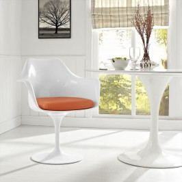 Lippa Dining Vinyl Armchair in Orange