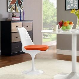 Lippa Dining Vinyl Side Chair in Orange