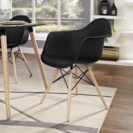 Pyramid Dining Armchair in Black